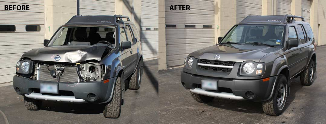 Nissan before and after photo