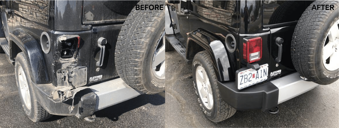 auto body repair jeep wrangler Sahara 4wd